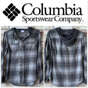 Small Columbia Black-Gray Hoodie